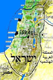 israel map 2008