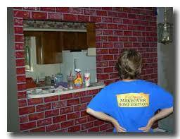 faux paint brick
