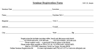 seminar registration forms