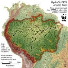 amazon river brazil map