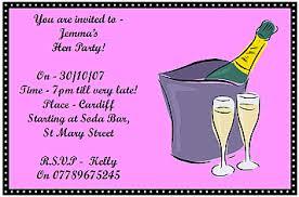 hen party invite