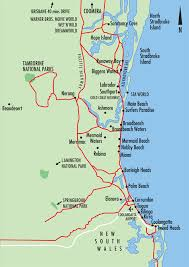 gold coast beach map