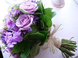 lilac bridal bouquet