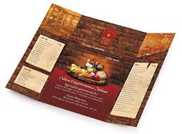 menu designs restaurant
