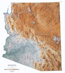 arizona physical map