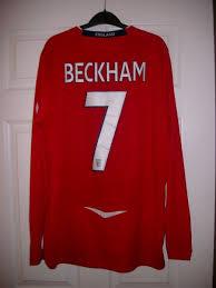david beckham england shirt