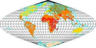 equal area world map