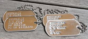 australian army dog tags