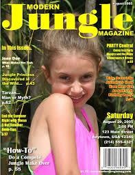 magazine cover invitations