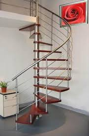 spiral steel staircase