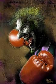 evil joker face