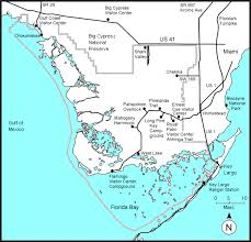 map of the everglades national park