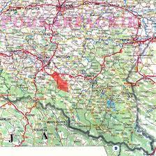 bieszczady mapa