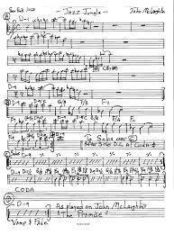 jazz lead sheet