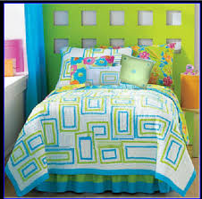 lime green comforter set