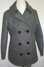 mens gray pea coats