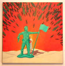 green plastic army man