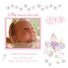 baby thank you cards with photo
