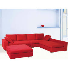 red corner sofas