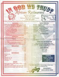african menu