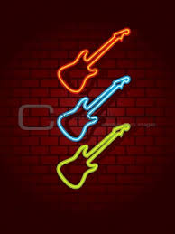 neon guitar light