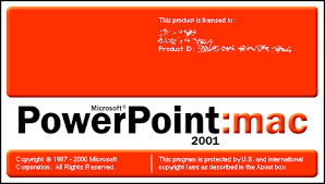 microsoft powerpoint 2001