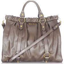 miu miu gathered leather bag
