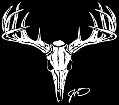 deer skull stickers