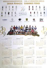calendario de 1999