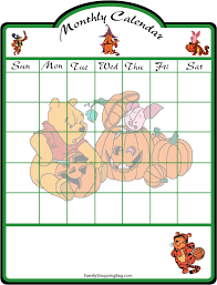 classic pooh calendar