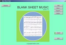 empty note sheet