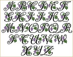 alphabets font