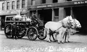 horse drawn fire engines