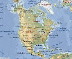 mapa politico de norte america