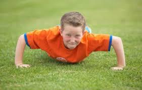 kid exercising