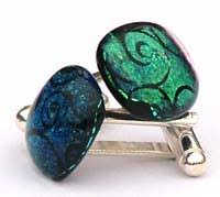 glass cufflinks