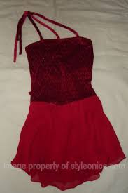 chiffon dance dress