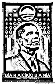 coloring pages barack obama