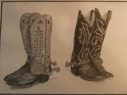 drawings of boots