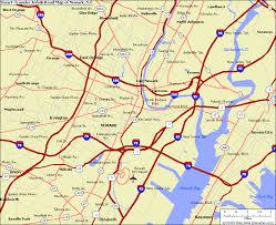 usa map road