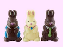 easter bunnies chocolate