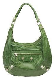 green balenciaga bag