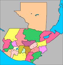 mapa de guatemala y sus departamentos