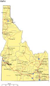map of cities in idaho