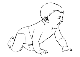 coloring picture of a baby