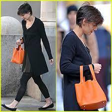 orange hand bag