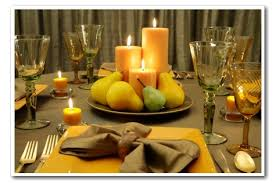 pillar candle centerpieces