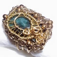 green opal ring