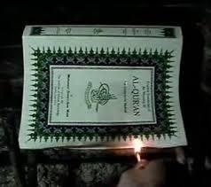 burning koran
