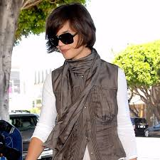 katie holmes new haircut pictures